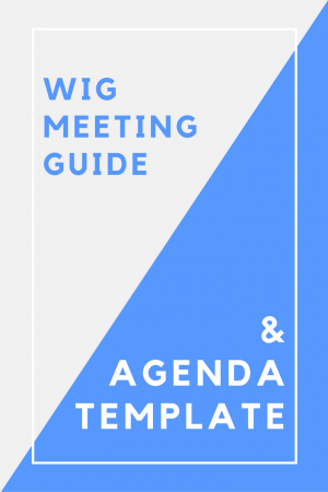 Wig Meeting Guide Amp Agenda Template Jesse Gee