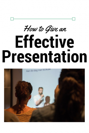 Learn the top 3 elements that make an effective presentation